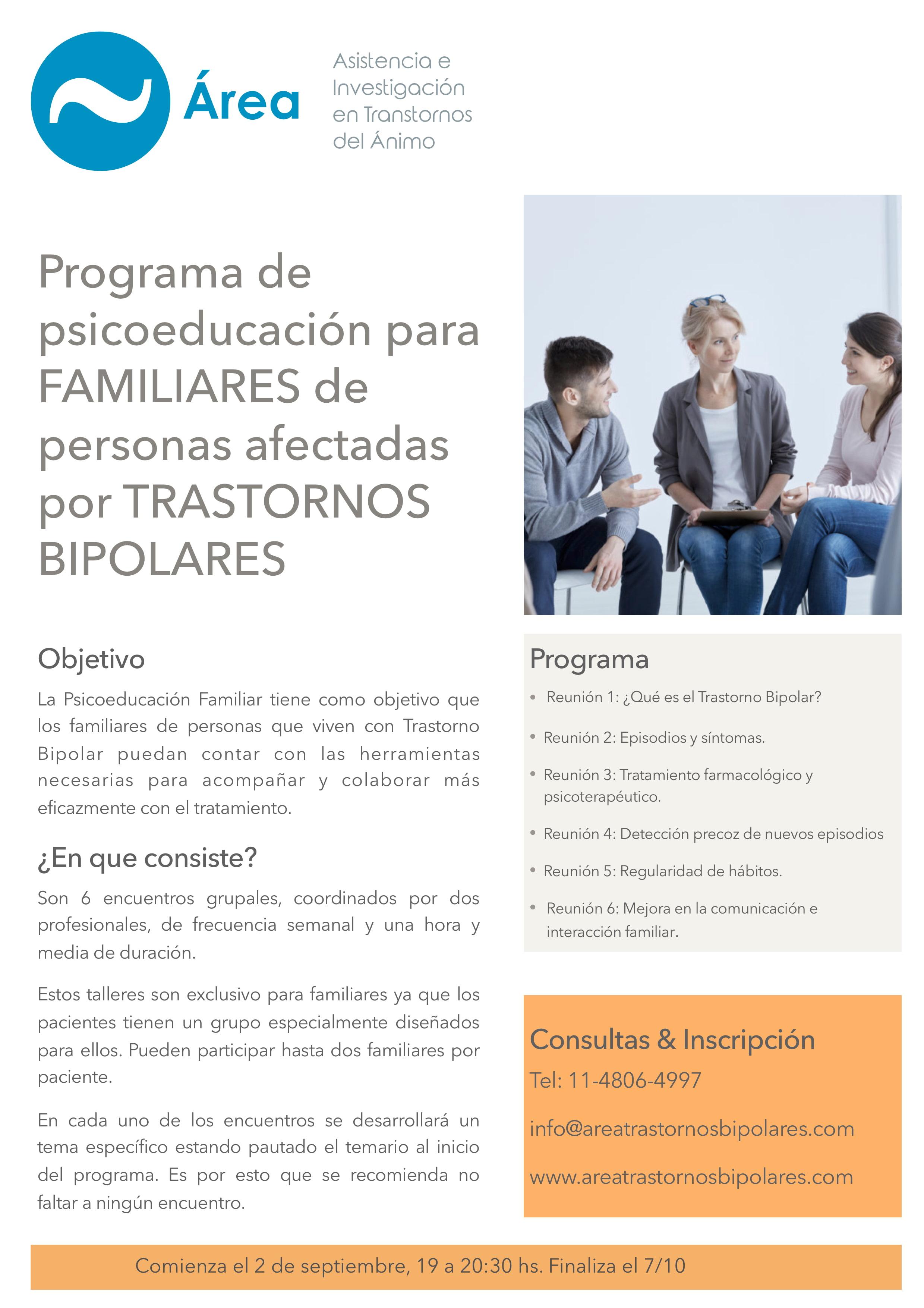 Flyer Psicoeducacion familiares 2019