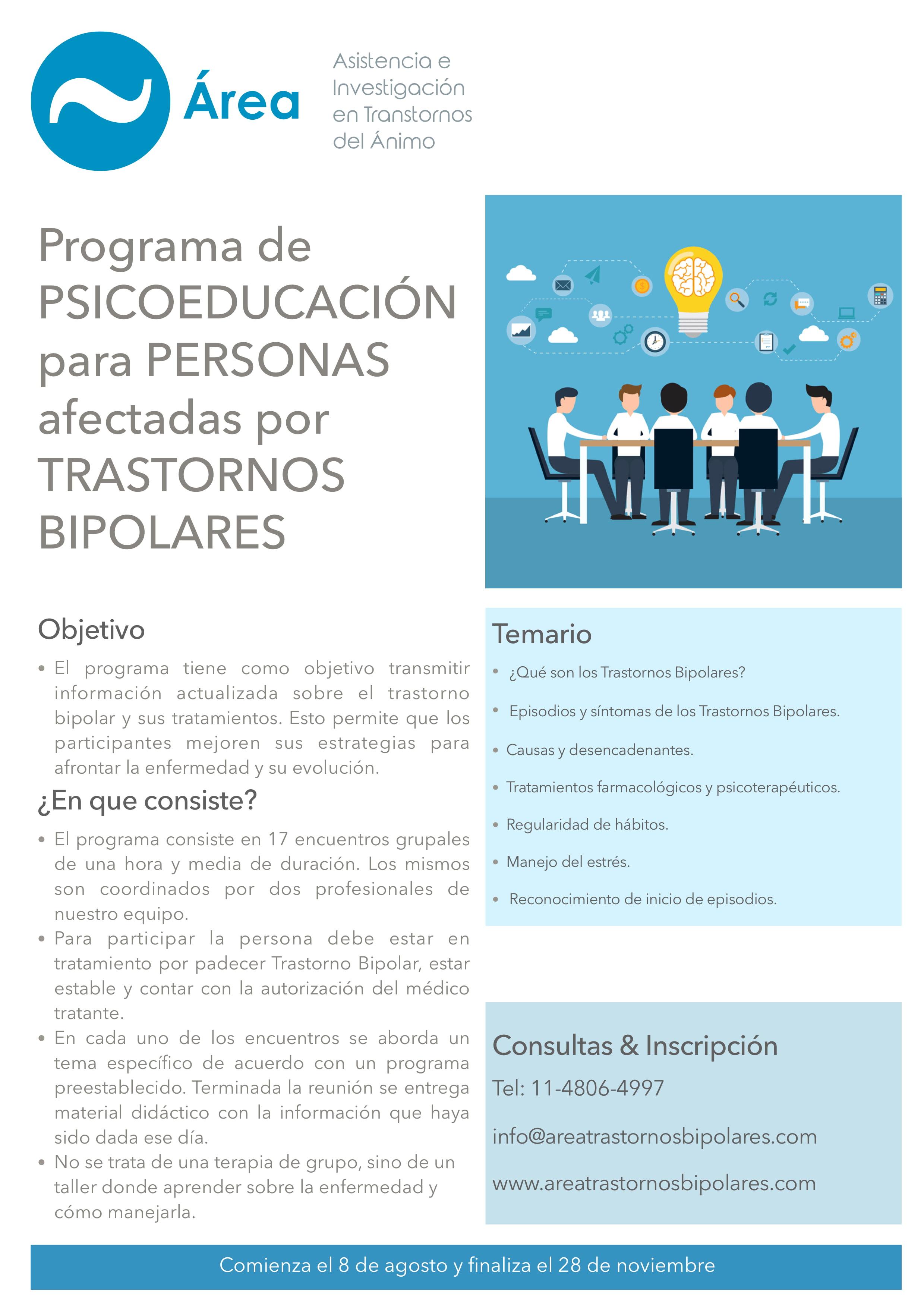 Flyer Psicoeducacion pacientes 2019